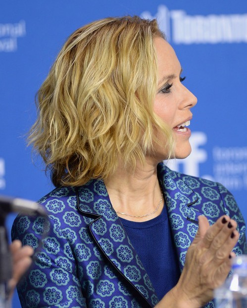 Maria Bello Hairstyles: Short Tousled Wavy Hairstyle for 2014