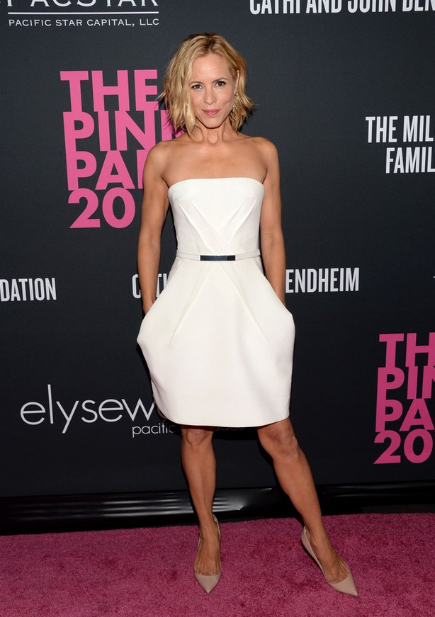 Maria Bello: White Kaufmanfranco Strapless Dress
