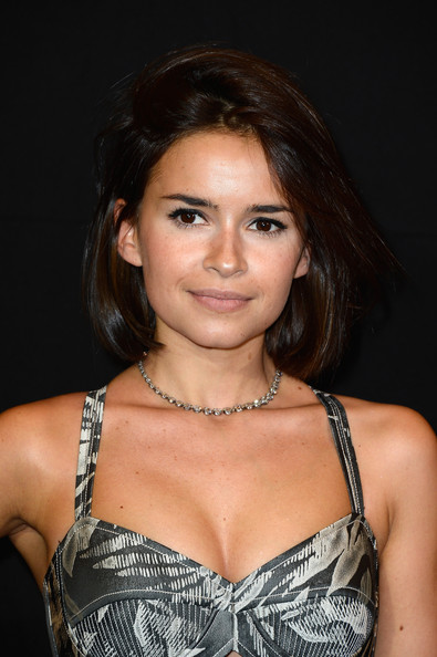 Miroslava Duma Short Hairstyles:Chin-length Bob with half updo and side swept bangs