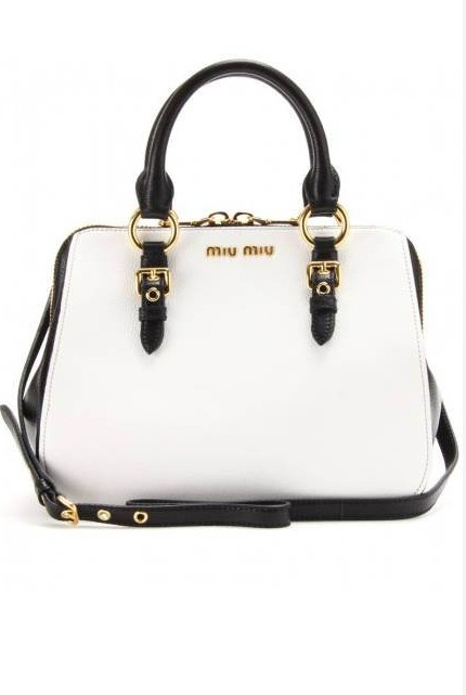 Miu Miu Two-Tone Leather Tote, $1,450