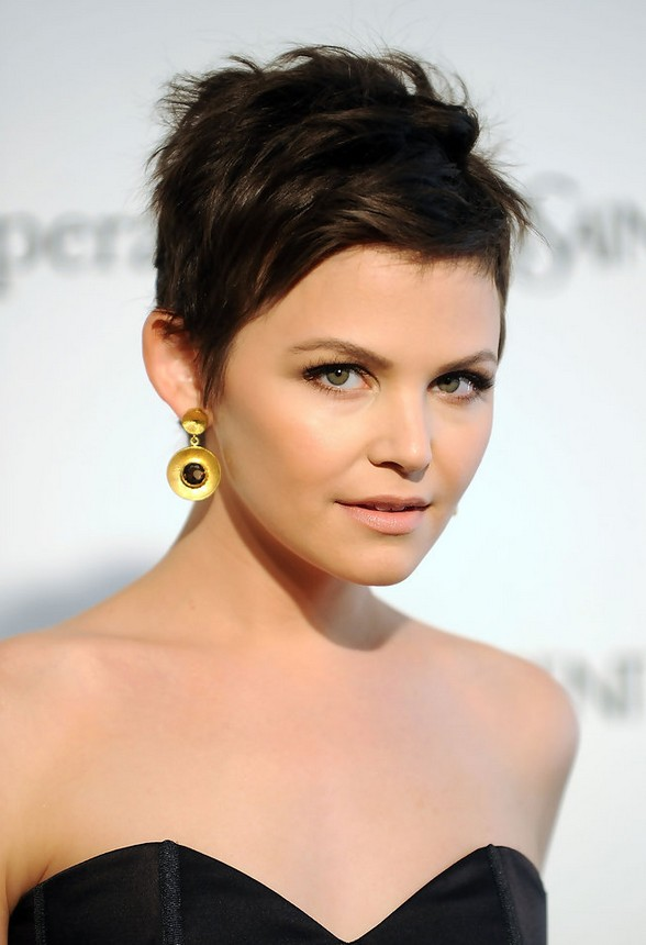 Modern Pixie Cut for Round Face