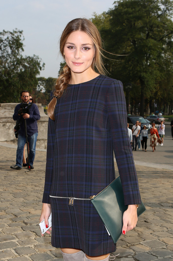 Olivia Palermo's Leather Clutch