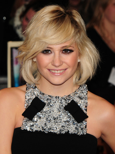 Pixie Lott Short Hairstyles: Alive Under Curled Bob with Over-grown Pixie