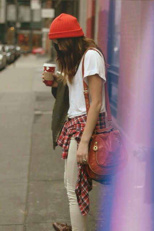 Plaid Shirt Street Style