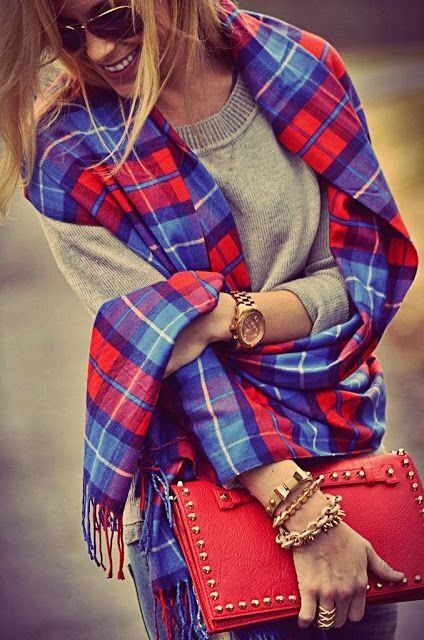 Plaid Shrug