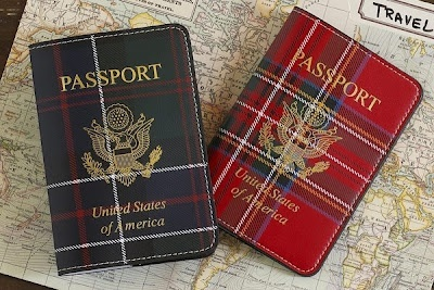 Plaid Passport Cover