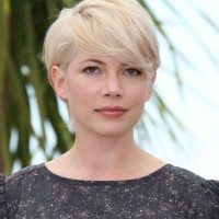 Platinum Short Hairstyle With Long Side Fringe
