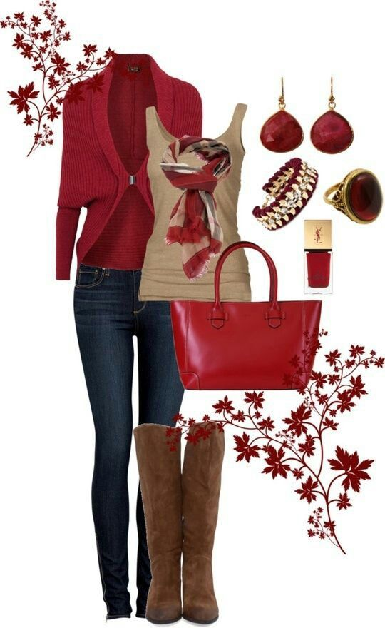 2014 Fall Clothes Styles Red Clothing Style for Fall