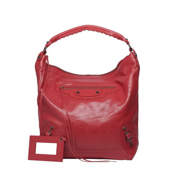 Red stylish handbag