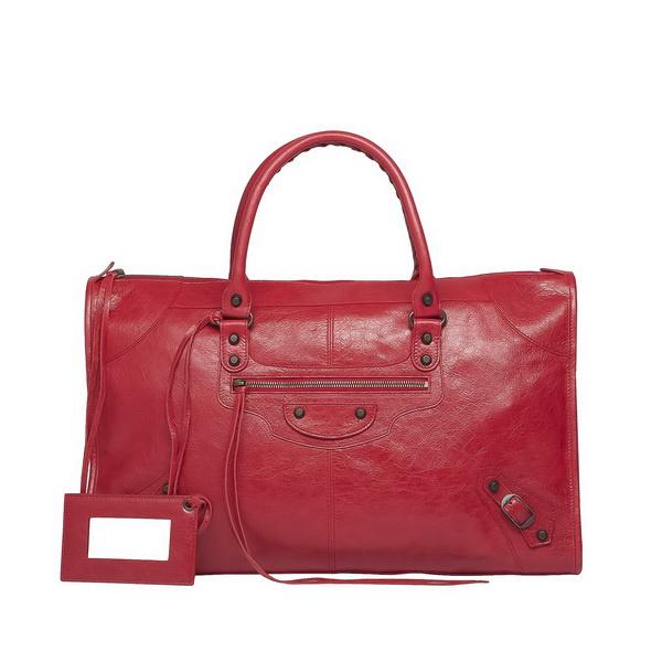 Red unique satchel