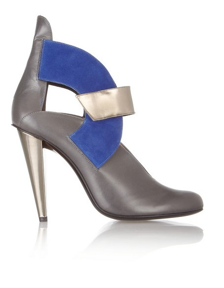 Roland Mouret Leather and suede ankle boots