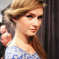 Romantic Twisted Long Blonde Hairstyle for 2014 Summer