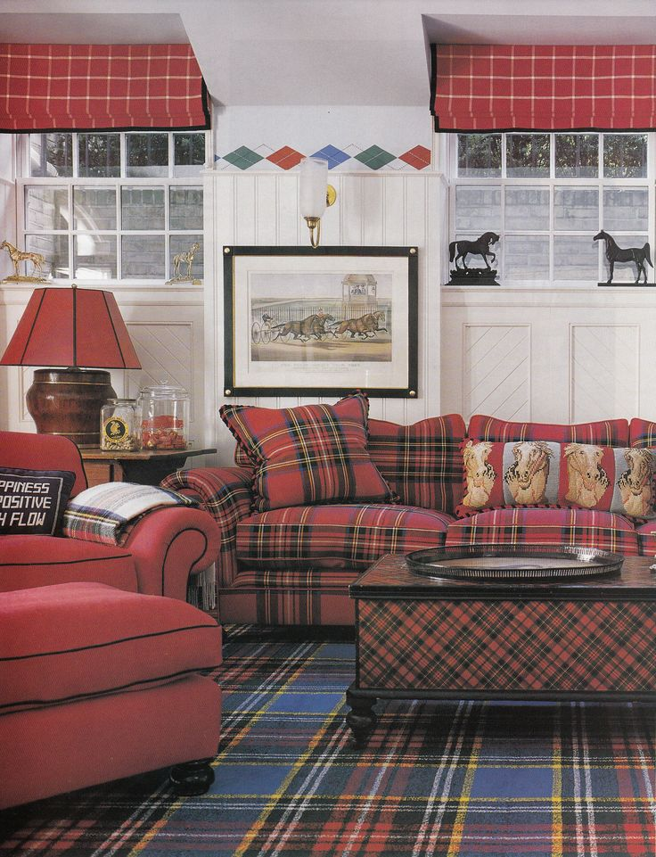 Classic And Lovely Plaid Home Decorating Trend For 2014