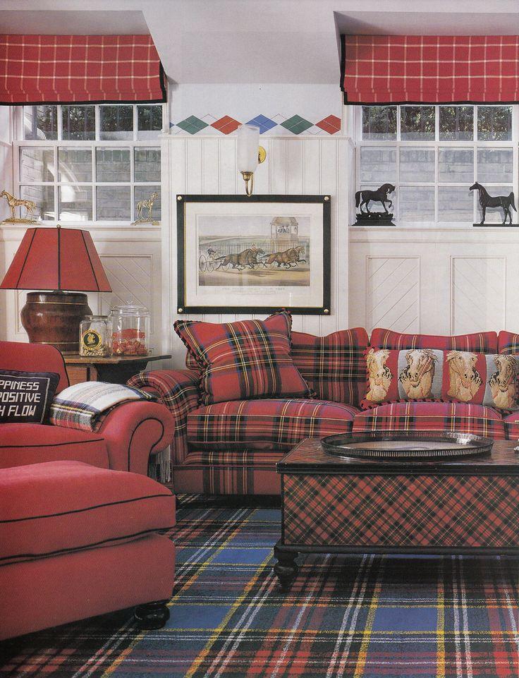 Scottish Plaid Home Decoration Design