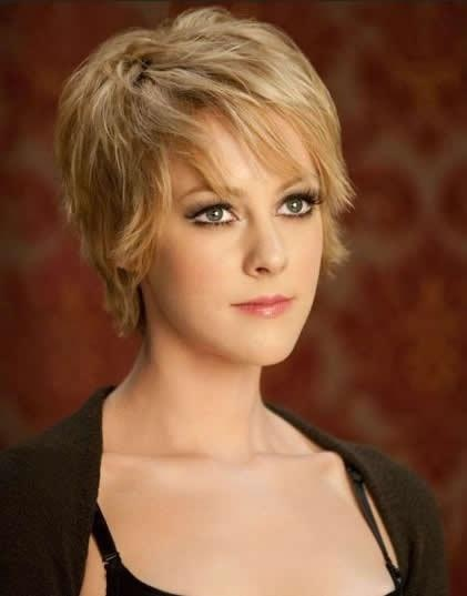 Blond Short Shaggy Hairstyle