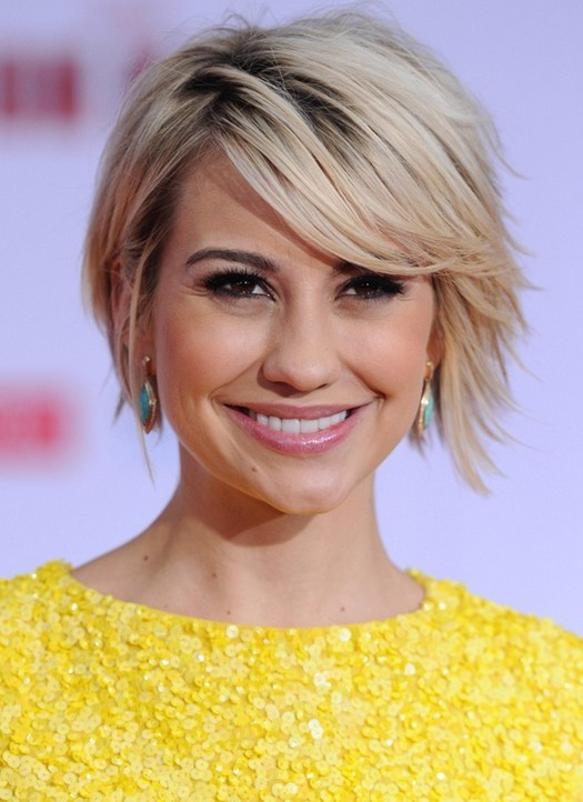 Short Hairstyles 2014: Cute Short Hairstyle with Long Side Swept Bangs