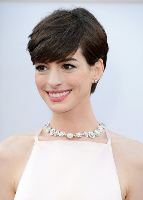 Short Hairstyles : Cute Layered Pixie Cut with Bangs for Thick Hair