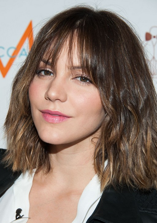 Short Ombre Hair for 2014: Katharine McPhee's Short Wavy Hairstyle with Bangs