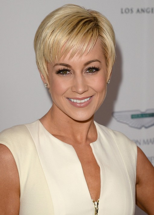 Short Pixie Cut for 2014: Trendy Pixie Haircut with Wispy Bangs /Getty ...