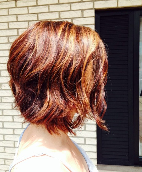 Short Red Hairstyle  – Side View of Short Red Bob Haircut