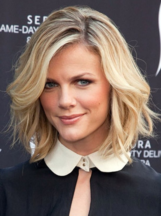 Short Wavy Hairstyles for 2014 - Blonde with Brown Highlights