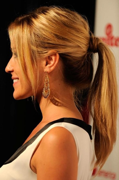 Side View of Classic High Ponytail