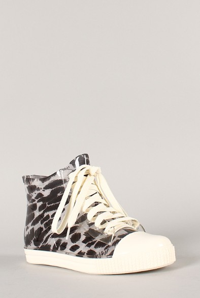 Side View of the Jelly Leopard Lace Up Sneaker