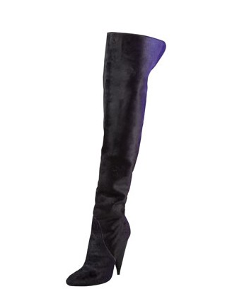 Side View of the Tom Ford Ombre Calf Hair Over-the-Knee Boot