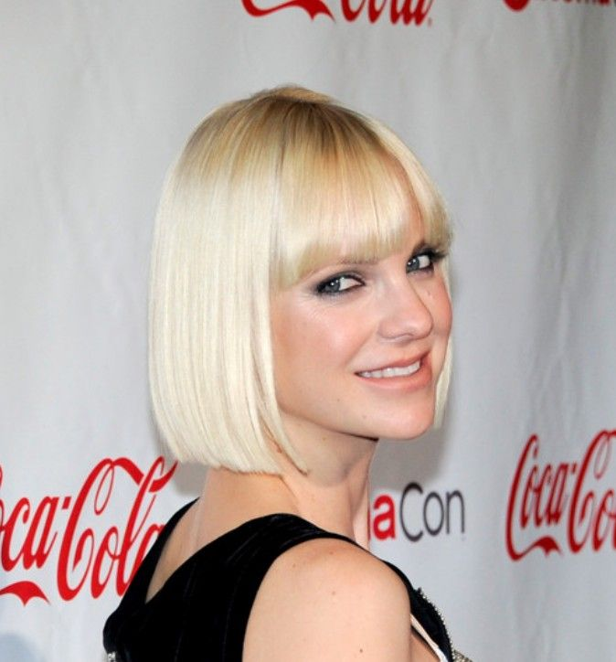 Sleek Bob Haircut With Bangs