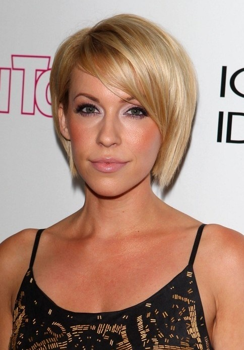 Sleek Bob Haircut With Side Bangs