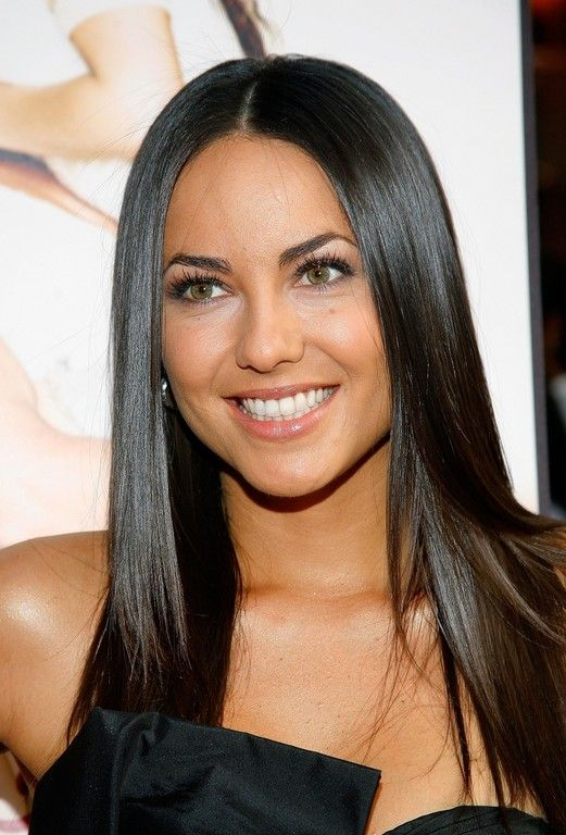 Sleek Long Black Barbara Mori Hairstyle