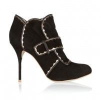 Sophia Webster Metallic leather-trimmed suede ankle boots