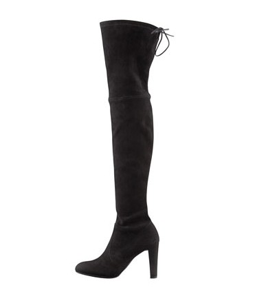 Stuart Weitzman Highland Stretchy Over-the-Knee Boot, black