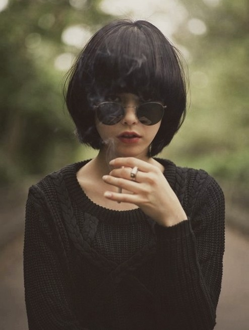 Stylish Short Black Bob hairstyle