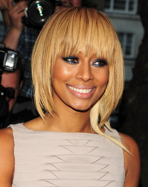 Stylish Short Hairstyle with Bangs for 2014: Keri Hilson's Hairstyle