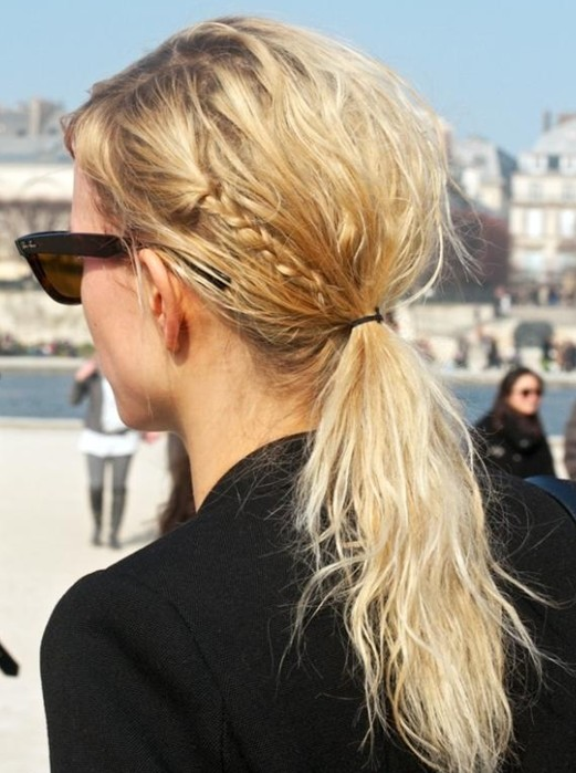 Sweet Loose Curly Hairstyle with Braid for 2014