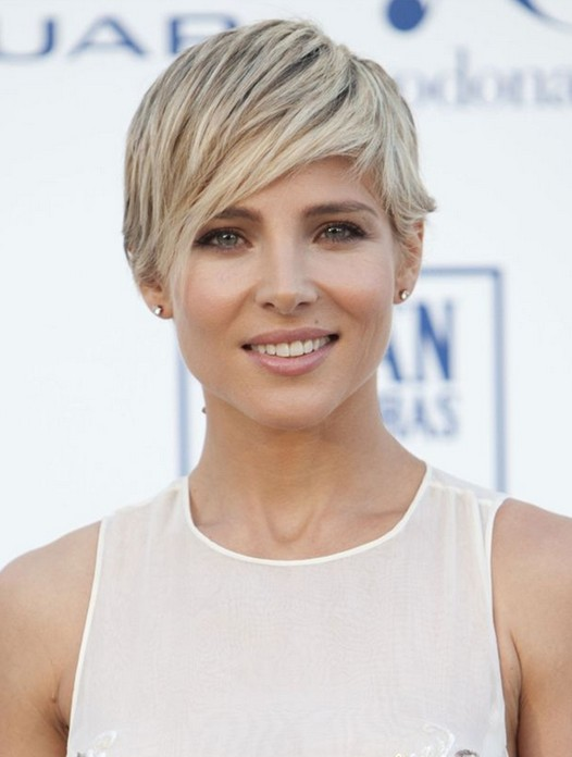 Sweet Short Blonde Pixie Cut with Side Swept Bangs for 2014