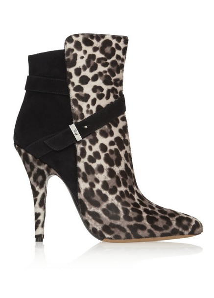 Tabitha Simmons Hunter leopard-print calf hair and suede ankle boots