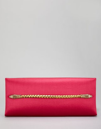 Tom Ford Two-Headed Serpent Hot Pink Silk Clutch