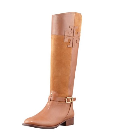 Tory Burch Lizzie Leather & Suede Riding Boot