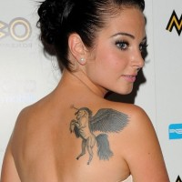 Tulisa Contostavlos' Tattoos - Upper Back