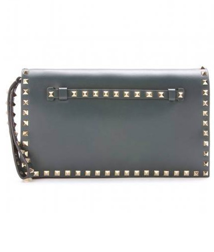 Fashionable Clutch: Valentino Rockstud Leather Clutch, $1,495