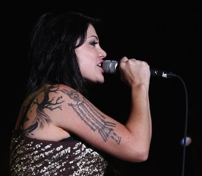 Vanessa Amorosi's Tattoos - Artistic Design Tattoo on Upper Arm
