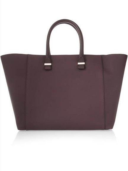 Victoria Beckham Liberty Matte-Leather Shopper, $1,350