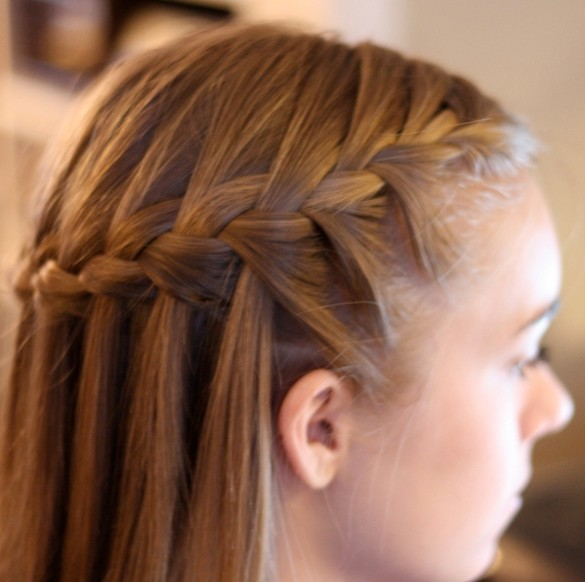 Super Waterfall Braid Cute Braided Hairstyle For 2014 Pretty Designs Hairstyles For Men Maxibearus