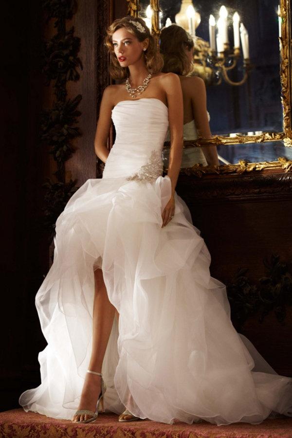Short Wedding Dress with Ruffles