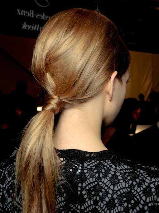 Weekend Hairstyle - Backcombed Ponytail