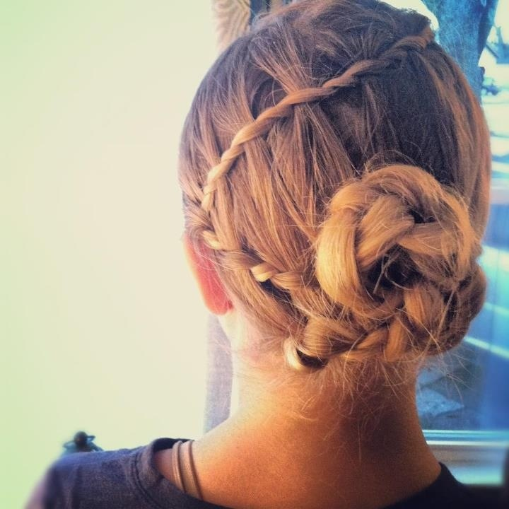 Weekend Hairstyle - The Braided Bun