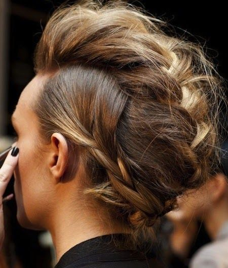 Weekend Hairstyle - The Braided Mohawk