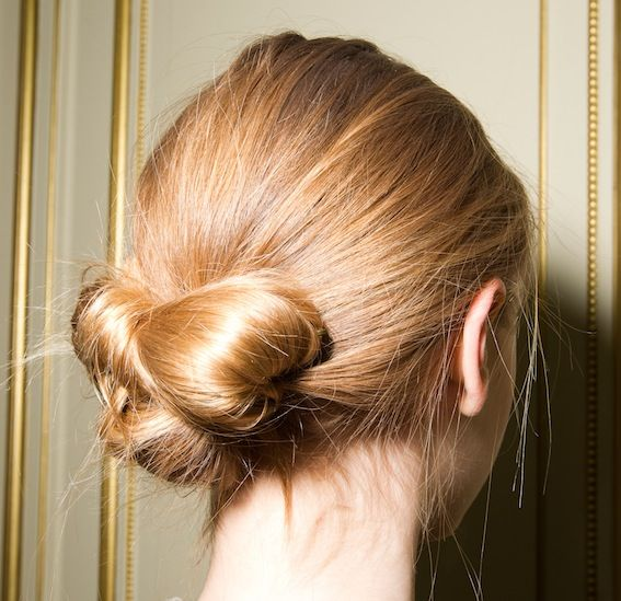 Weekend Hairstyle - The Effortless Bow Chignon
